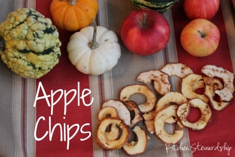Crispy Baked Apple Chips in the Oven