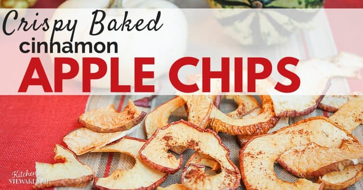 crispy baked cinnamon apple chips
