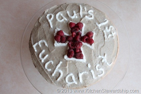 First Communion gluten-free cake