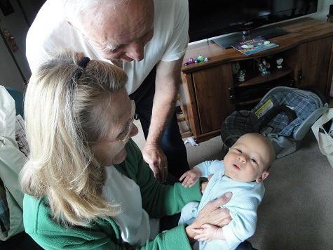 Grandma and Dzia Dzia with John
