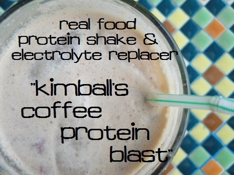 Homemade Coffee Protein Drink and electrolyte replacer for after a workout