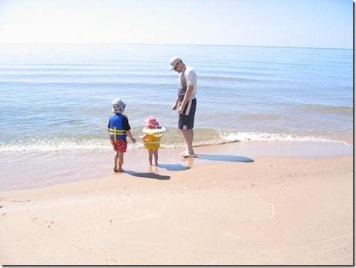 3 at beach