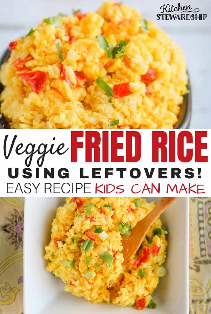Veggie Fried Rice using Leftovers