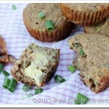 Gluten-Free Bacon and Green Onion Savory Muffins Recipe