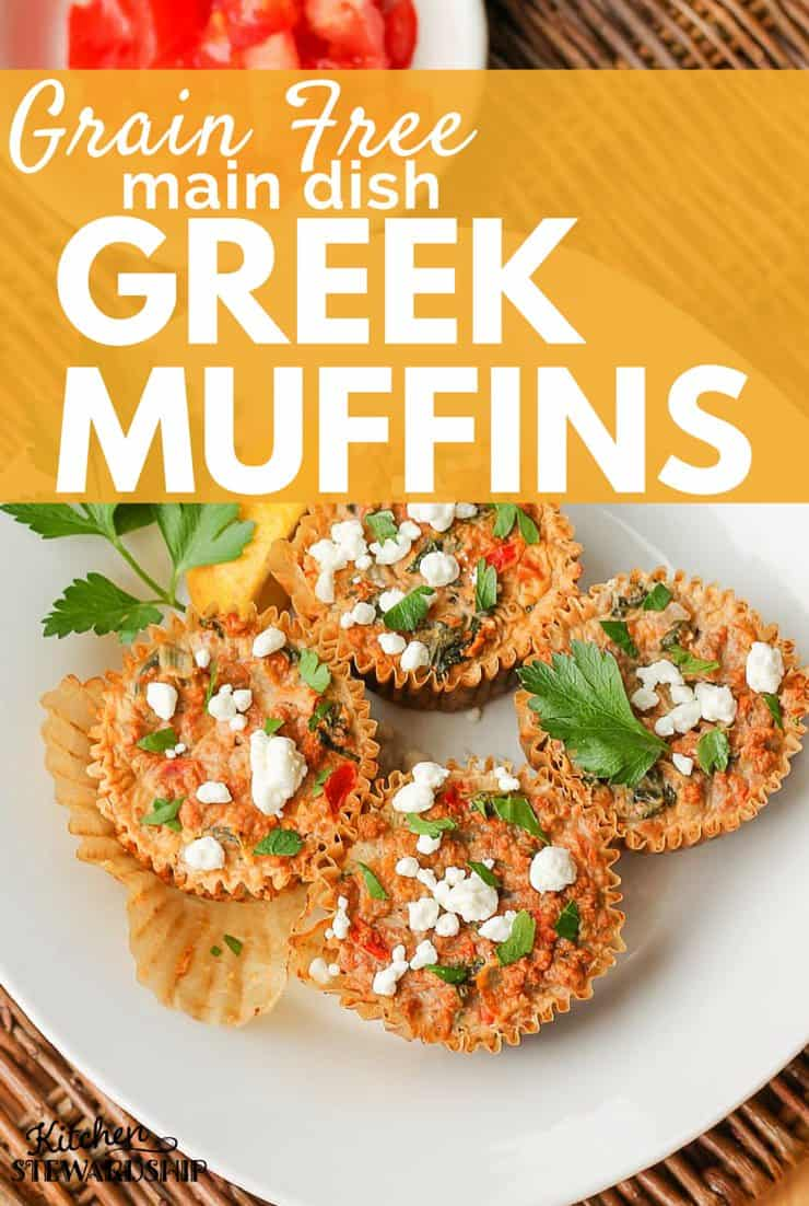 Grain Free Greek Main Dish Muffins