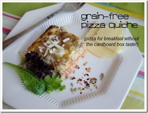 Grain-Free Pizza Quiche Recipe