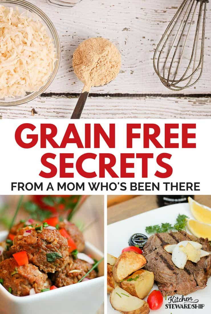 Starting a grain-free diet (or any elimination diet like gluten-free)? Take the fear out of the unknown with great tips PLUS easy grain-free Paleo/primal recipes.