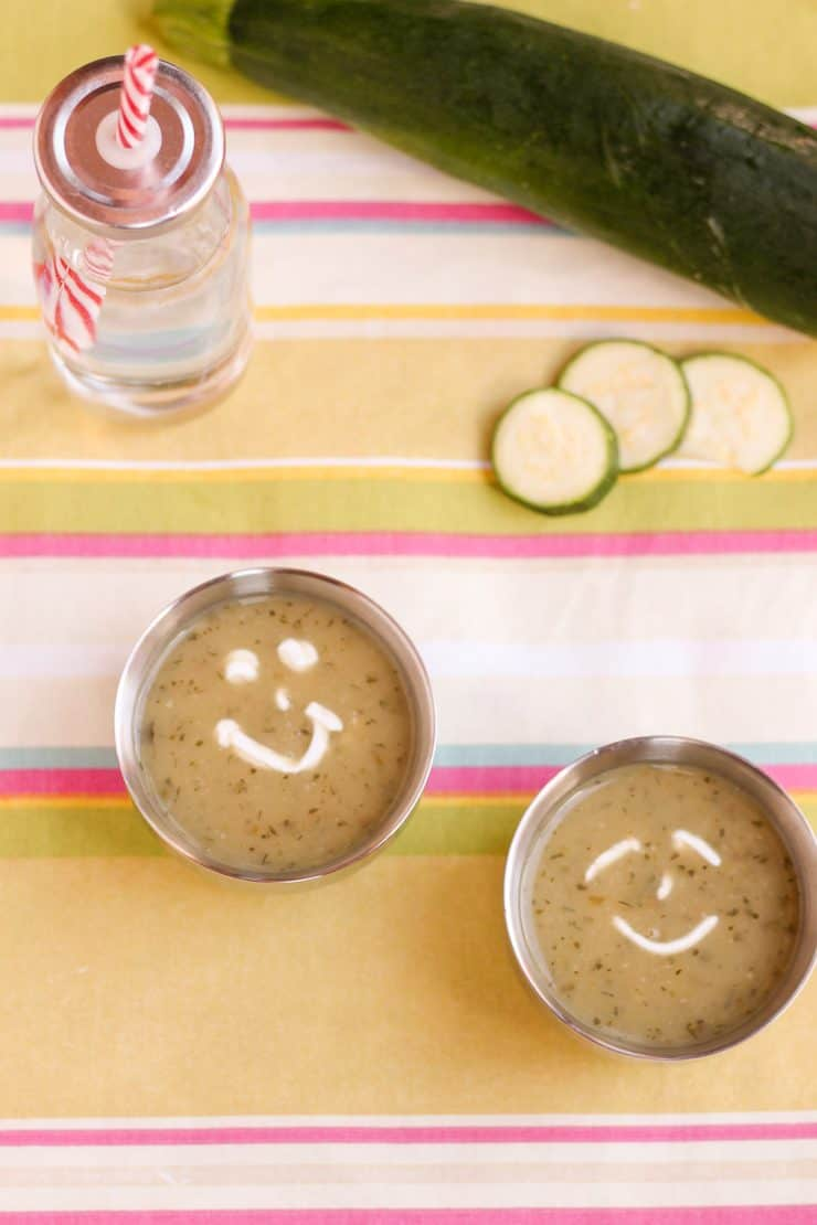 Kid friendly Blended Green Soup with lots of Veggies