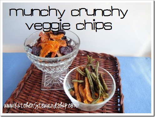 Munch Crunchy Veggie Chips (Dehydrated!) Recipe