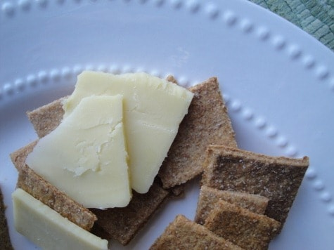 Homemade Whole Wheat crackers and cheese
