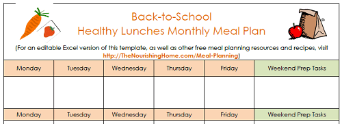 Lunch Meal Planning Template 500px