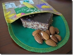 snack taxi with almond power bars