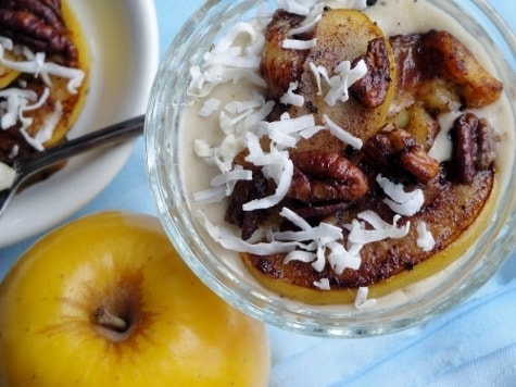 Caramelized Apple Banana Topping - serve on ice cream, granola, yogurt, in a tortilla, or just in a bowl!