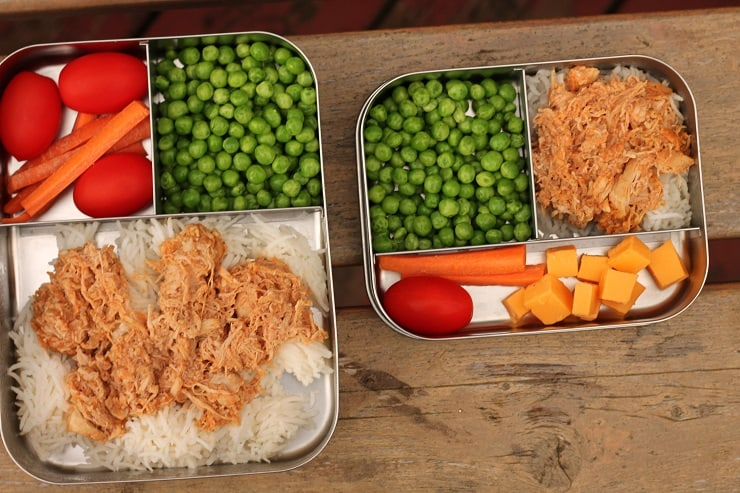 two sizes of bento lunch boxes from Lunchbots