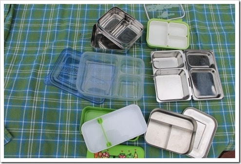 Bento Lunch Boxes for review - stainless steel and plastic