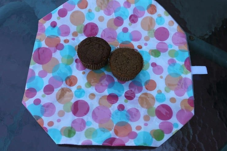 Celadon Road sandwich wrap with two muffins