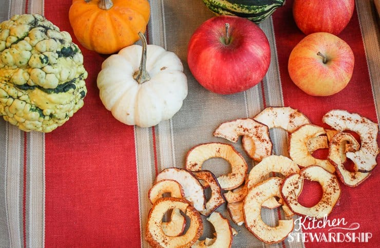 Crispy Baked Apple Chips (can dehydrate too)