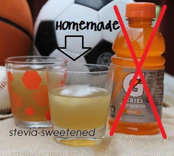 Replace Gatorade with something that is really good for you with this Homemade Electrolyte Sports Drink {Honey & Stevia-Sweetened} recipe