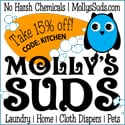 Get the gunky buildup out of clothes washed in synthetic detergents with Mollys