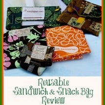 No Waste Food on the Go with Reusable Sandwich & Snack Bags {REVIEW}