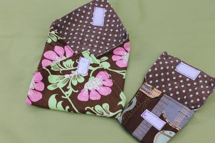Reusable sandwich bag and wrap - fabric with beeswax