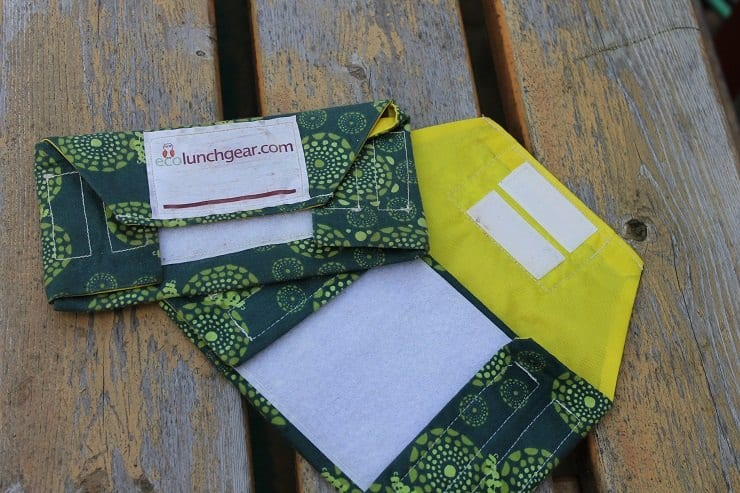 Reusable snack and sandwich bag ecolunchgear opens all the way