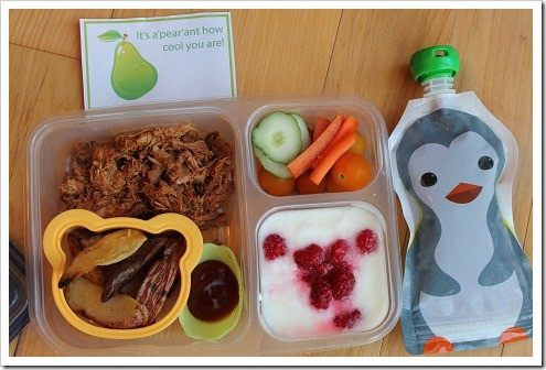 School Lunch Ziploc with Squooshi 1