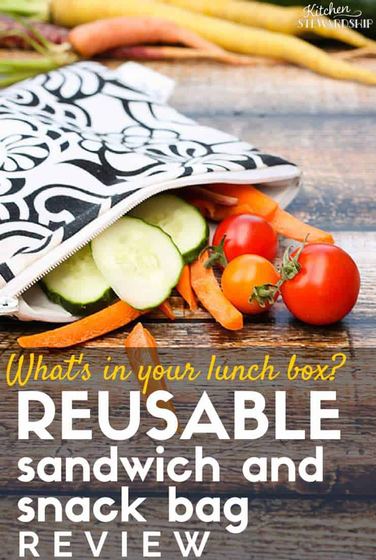 Green up the kids lunch-- ditch the plastic bags with one of these options!  Here's my honest review of a variety of reusable bags. http://www.kitchenstewardship.com/2013/09/19/no-waste-food-on-the-go-with-reusable-sandwich-snack-bags-review/