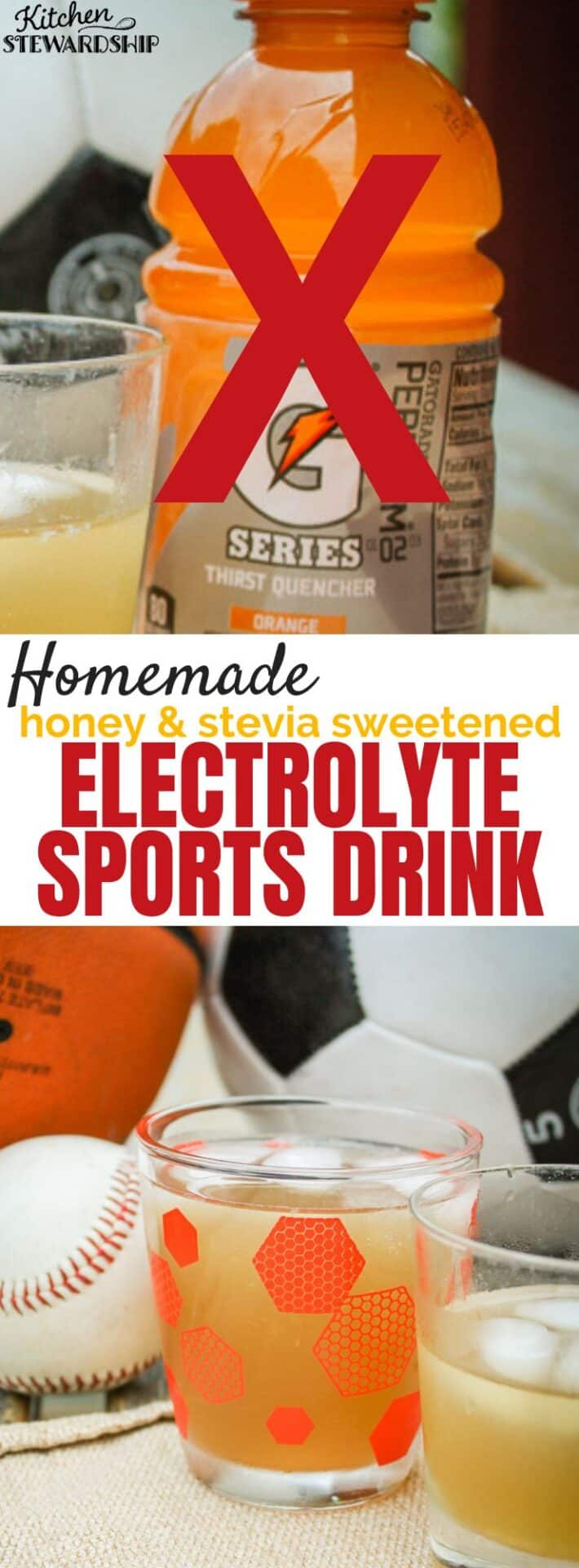 Homemade electrolyte sports drink