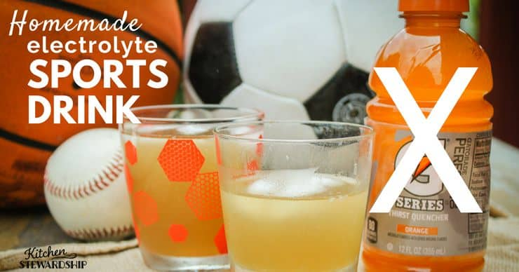 electrolyte sports drink - Kitchen Stewardship