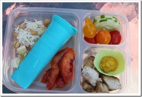 lunch example in Ziploc divided container