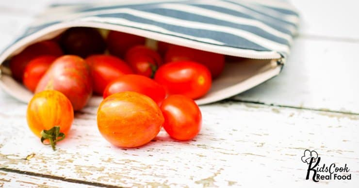 bag of cherry tomatoes