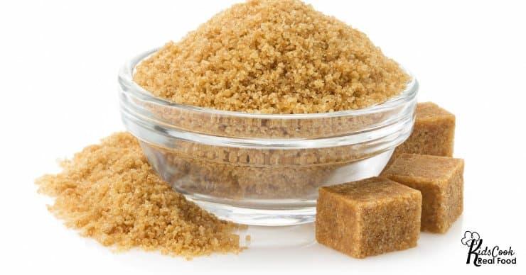 bowl of brown sugar