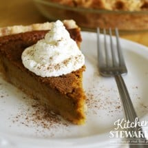 Healthy Pumpkin Pie Recipe {with a secret, ahem, twist}