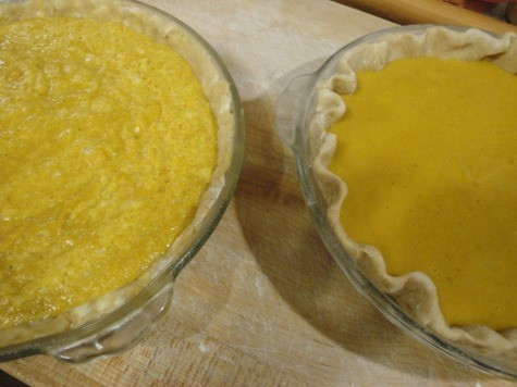 Healthy pumpkin pies