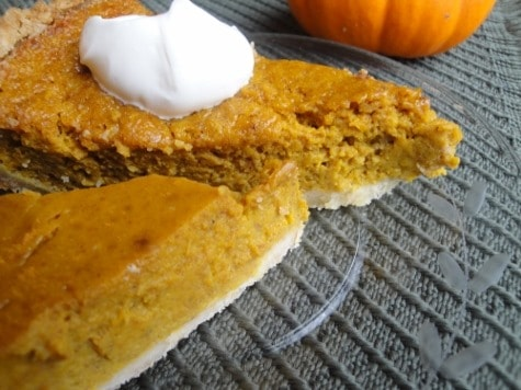 Homemade Healthy Pumpkin Pie