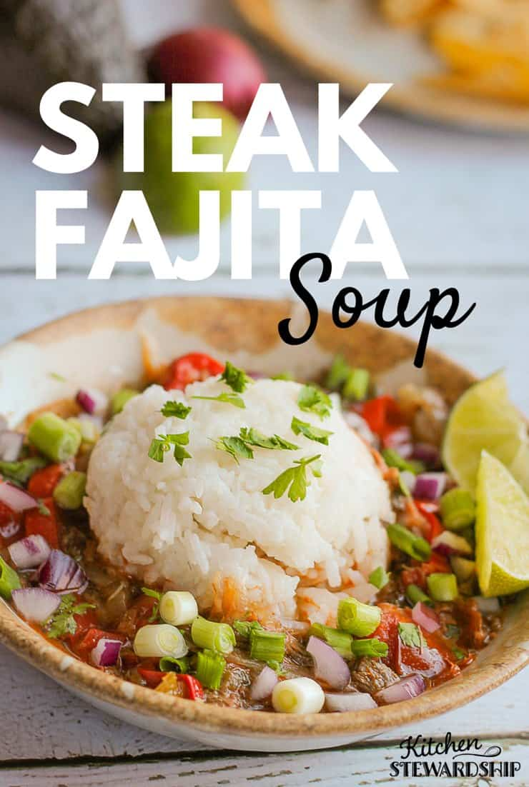 Steak Fajita Soup