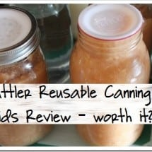 """""""I Can Barely Can Water"""" {REVIEW} of Tattler Reusable Canning Lids"""