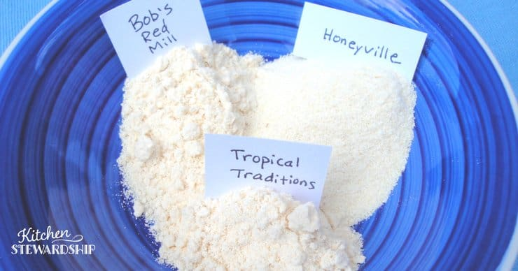 coconut flour comparison