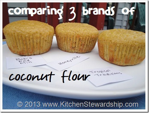 Comparing 3 brands of coconut flour.  Find out the good and not so good of each brand in this KS review.