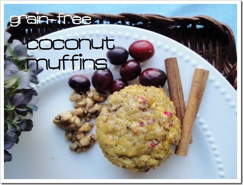 Grain-Free Coconut Muffins - basic recipe to add flavors your family loves!