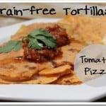 Grain-free Paleo tortillas with a tomato-pizza Italian twist (almond flour based)