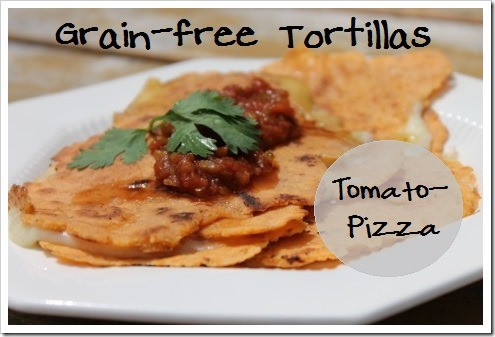 grain free tomato pizza tortillas