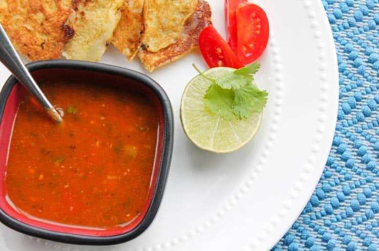 Homemade Salsa Soup