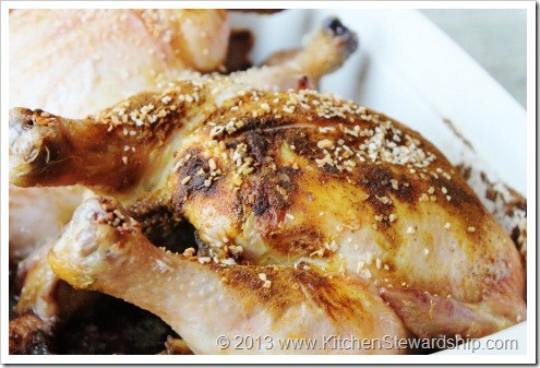 Roast Chicken and spices