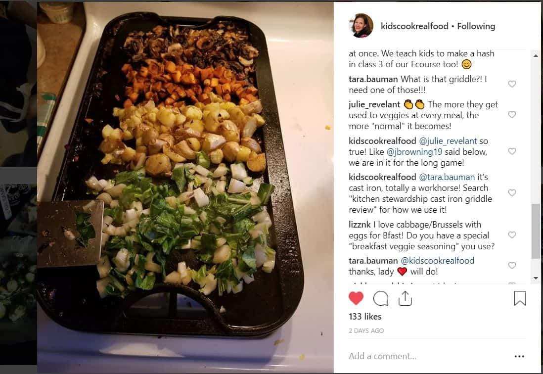 Cast iron griddle on Instagram