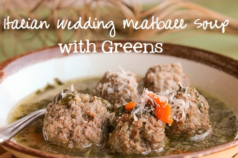 Italian Wedding Meatball Soup with Greens