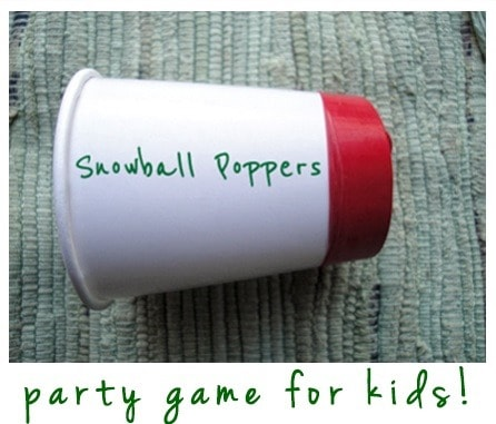 Snowball Poppers Party Game for Kids