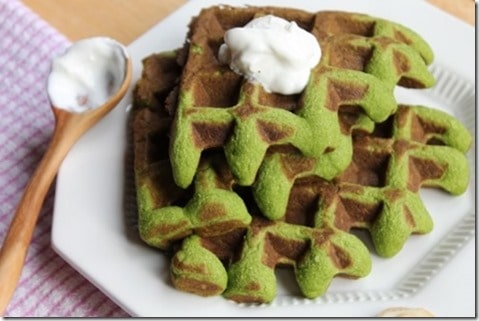 Spinach Garlic Grain free Waffles