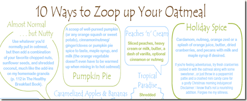 10 Ways to Zoop Up Your Oatmeal